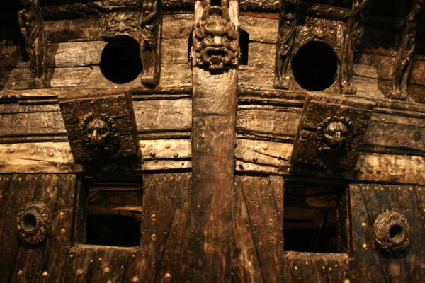 Detail of the rear side of the Vasa | Vasa Museum | Sweden