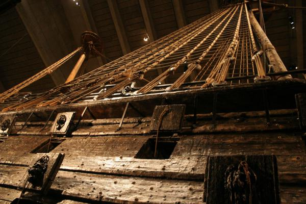 Part of the ship seen from below | Vasa Museum | Sweden