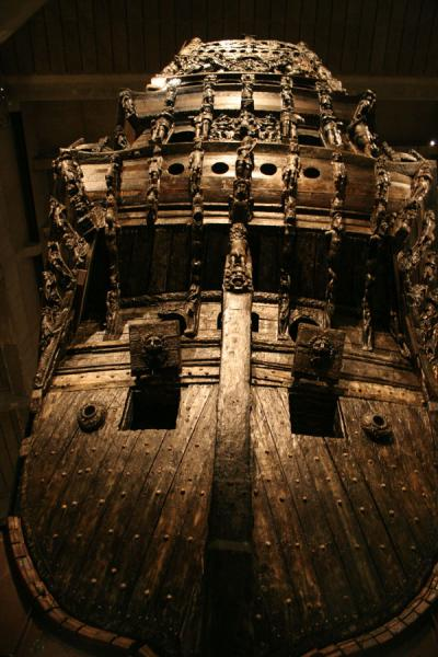 Rear of the Vasa seen from below, looking up | Vasa Museum | Sweden