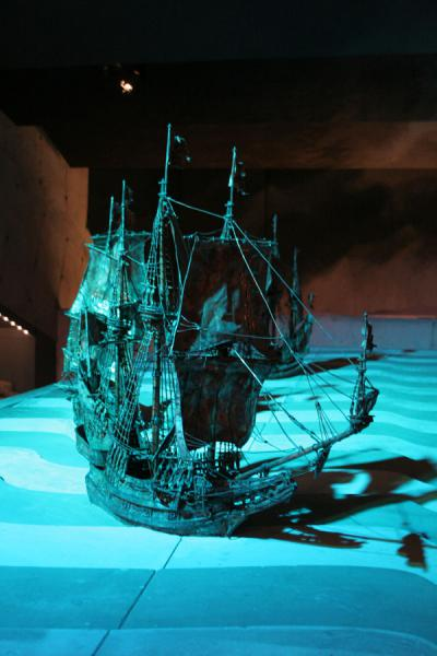 Models of 17th century warships in mock-up in the museum | Vasa Museum | Sweden