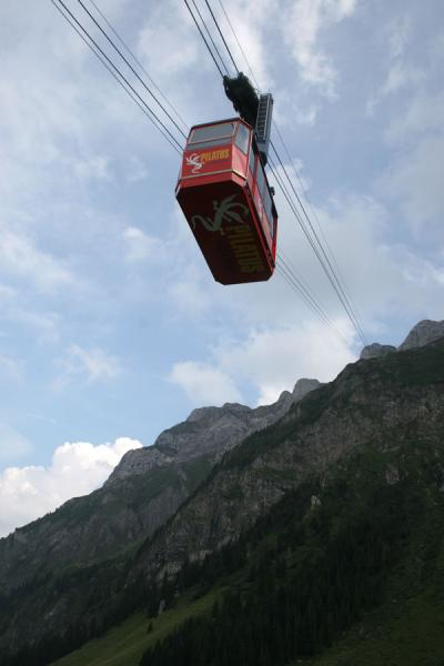 Picture of Fräkmüntegg (Switzerland): Cable way from Fräkmüntegg to Pilatus
