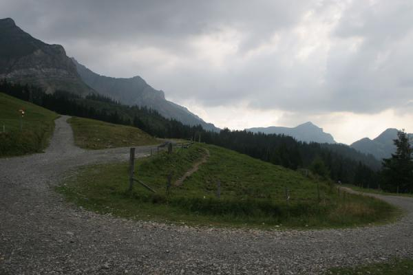 Picture of Fräkmüntegg (Switzerland): Walking down from Fräkmüntegg, the clouds move in
