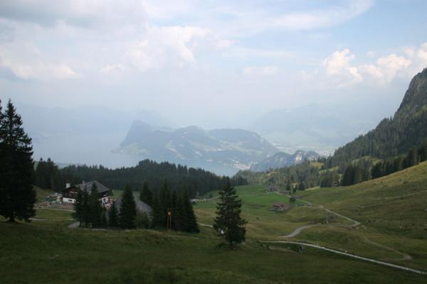 Picture of Fräkmüntegg (Switzerland): View from Fräkmüntegg: looking down towards Lake Lucerne