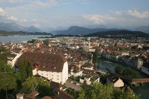 View over Lucerne from the Männlitower | Lucerne | Switzerland