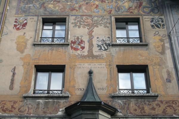 Wall paintings on old house at the Weinmarkt | Lucerne | Switzerland