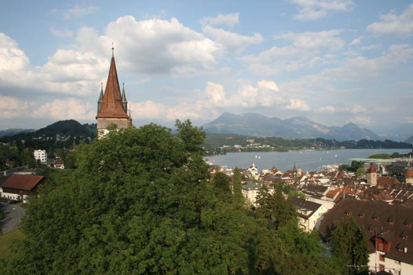 Watchtower and view over the old town and city | Lucerne | Switzerland