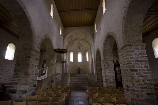 Picture of Spiez church (Switzerland): Church of Spiez seen from the inside