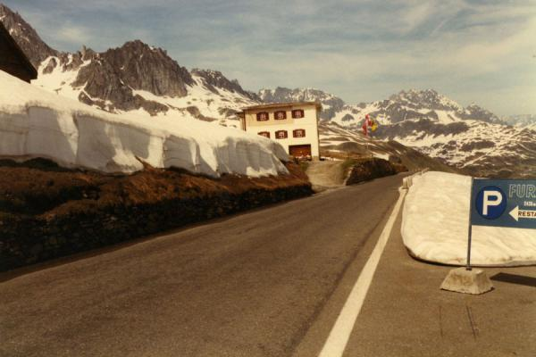 Road at the Furka mountain pass | Swiss Alps Mountain cycling | Switzerland