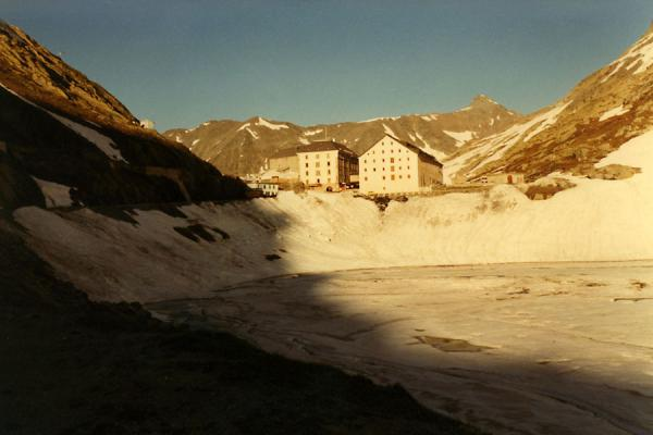 Picture of Frozen lake at over 2400 metres altitude: the Great Saint Bernhard Pass