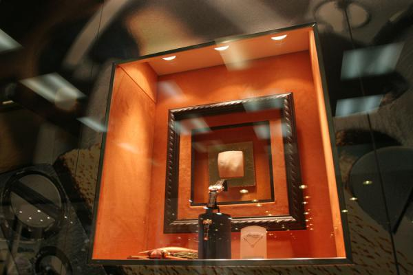 Picture of Watch on display in window in shop in Geneva