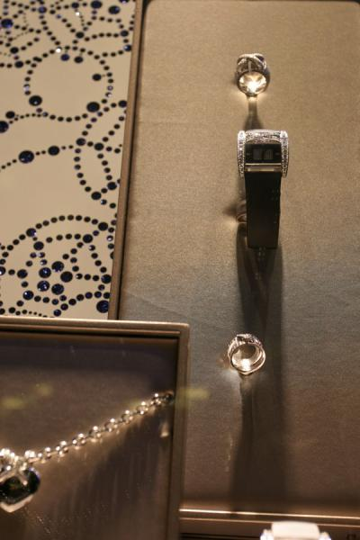 Picture of Expensive ladies watch on display in window