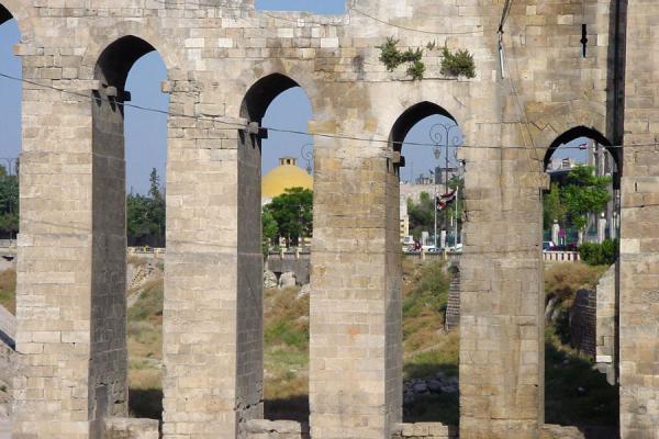 Picture of Aleppo Citadel (Syria): Detail of bridge of Aleppo Citadel