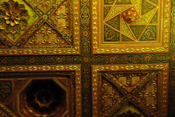 Picture of Aleppo Citadel (Syria): Ceiling in throne room, Royal Palace, Aleppo