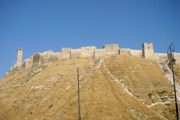 Picture of Aleppo Citadel (Syria): Aleppo Cathedral from below