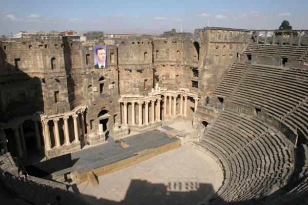 Picture of Bosra Amphitheatre (Syria): Bosra amphitheatre seen from above
