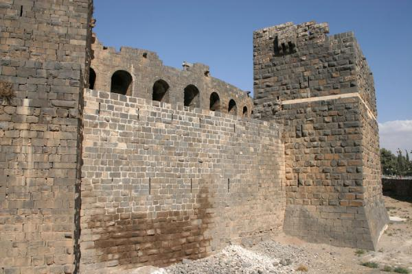 Picture of Bosra Amphitheatre (Syria): Bosra amphitheatre: seen from outside the fortress walls