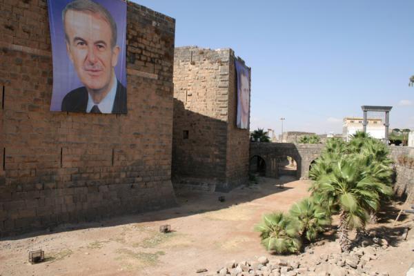 Picture of Bosra Amphitheatre (Syria): Defensive walls and moat outside Bosra amphitheatre