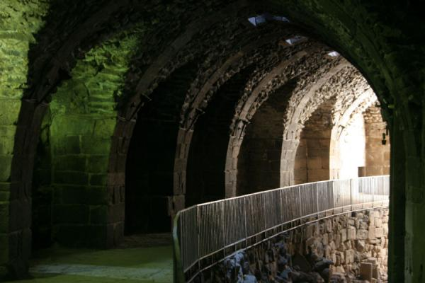 Picture of Bosra Amphitheatre (Syria): One of the many tunnels in the fortress of Bosra amphitheatre