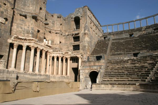Picture of Bosra Amphitheatre (Syria): Looking up Bosra amphitheatre