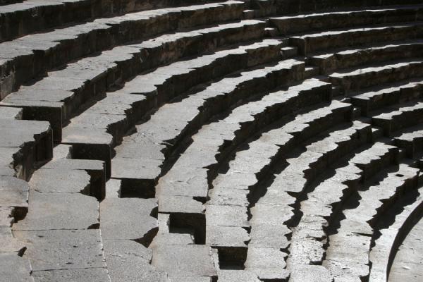 Picture of Bosra Amphitheatre (Syria): Rows of stone seats in the Bosra amphitheatre