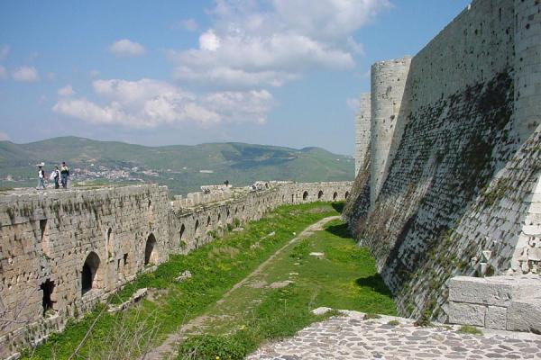 Outer and inner wall of the castle | Krak des Chevaliers | Syria