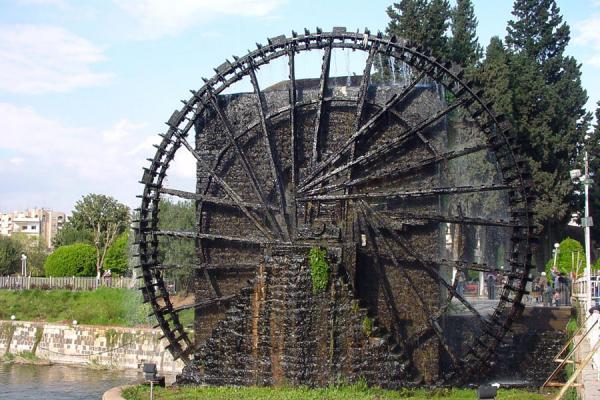 Picture of Norias (Syria): Noria in city park of Hama
