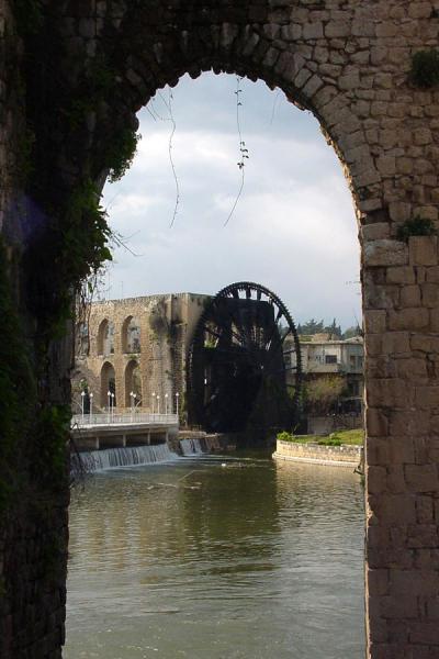 Picture of Norias (Syria): Al-Mohammediyyeh noria in Hama