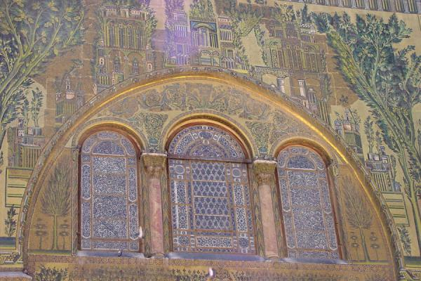 Picture of Omayyad Mosque (Syria): Mosaics in Omayyad mosque, Damascus