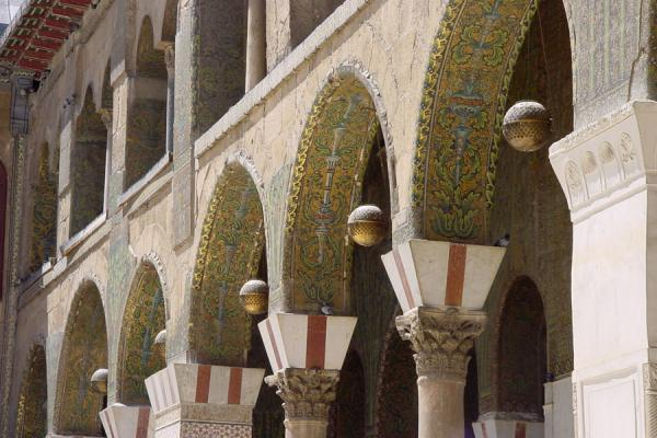 Picture of Omayyad Mosque (Syria): Arches of Omayyad Mosque, Damascus