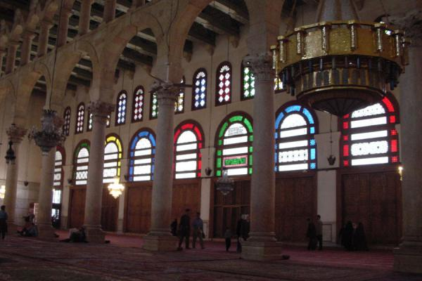 Picture of Omayyad Mosque (Syria): Inside prayer hall, Omayyad mosque, Istanbul