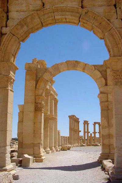 Picture of Palmyra City (Syria): Palmyra; avenue
