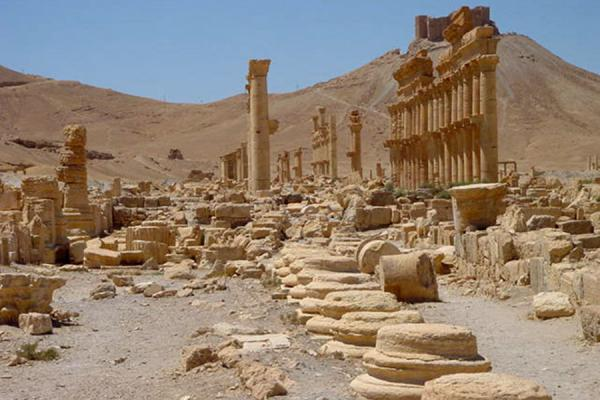 Picture of Palmyra City (Syria): Palmyra; residential area