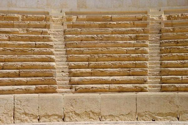 Picture of Palmyra City (Syria): Detail of Theatre of Palmyra
