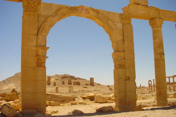 Picture of Palmyra City (Syria): Palmyra; looking towards the Valley of Tombs
