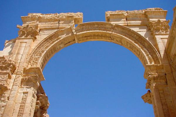 Picture of Palmyra City (Syria): Monumental arch in Palmyra