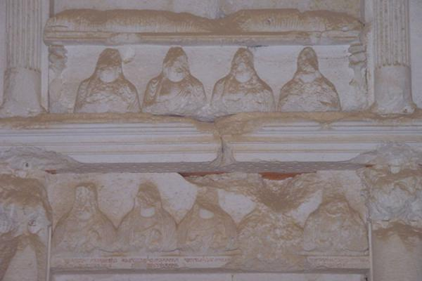 Picture of Tombs of Palmyra (Syria): Detail of tomb at Palmyra