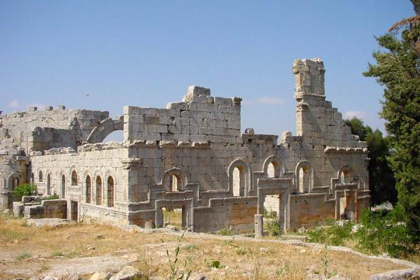The inn that was built outside the basilica | Saint Simeon | Syria