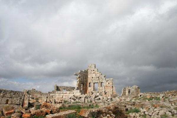 Remains of a wall in Serjilla | Serjilla | Syrie