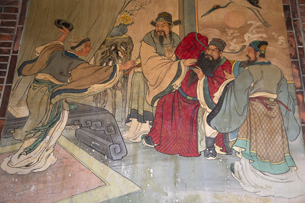 Picture of Detail of a painting on the back wall of Baoan templeTaipei - Taiwan