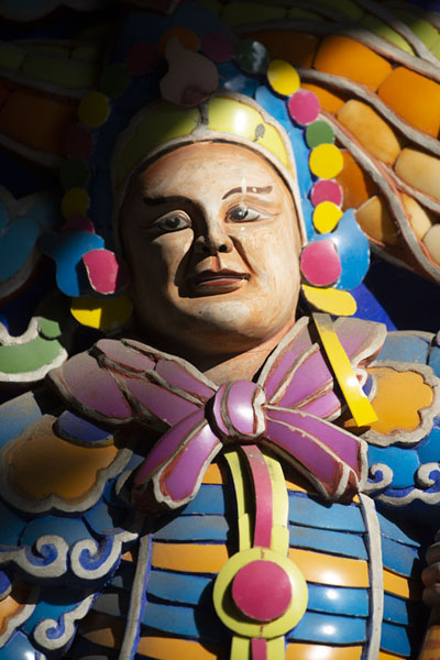 Foto van Detail of a colourful statue in Baoan templeTaipei - Taiwan