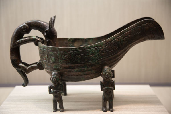 Foto van Bronze vessel with drinking animalTaipei - Taiwan