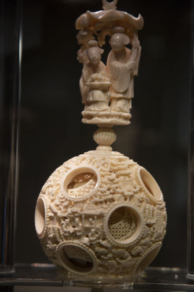 Foto van Intricately carved jade object in the National Palace MuseumTaipei - Taiwan