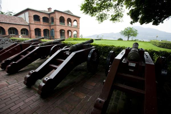 Battery of cannons pointing towards Tamsui River | Forteresse San Domingo | Taiwan