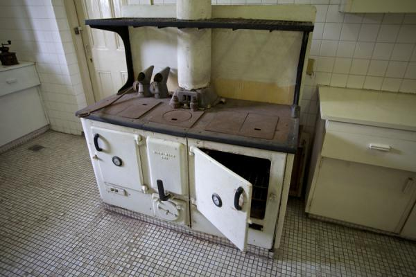 Picture of San Domingo Fort (Taiwan): Old kitchen stove in the former consular residence of Fort San Domingo