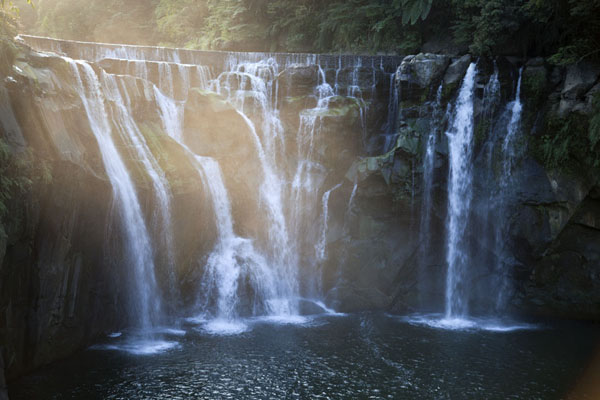 Foto van Shifen waterfall in the late afternoonSandiaoling - Taiwan
