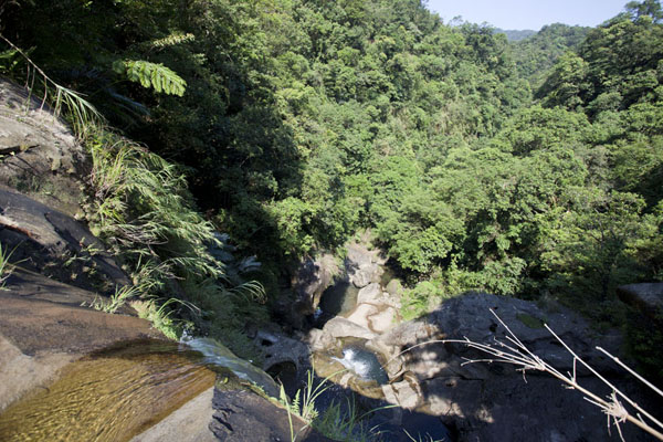 Picture of Sandiaoling Waterfall Trail (Taiwan): View from the top of Hegu falls