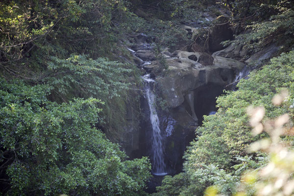 Picture of Sandiaoling Waterfall Trail (Taiwan): Waterfall in the woods on the way to Shifen waterfall