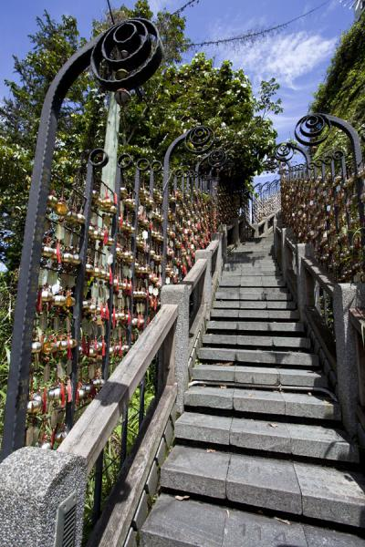 Stairway to heaven: each step represents a day of the year, with the date carved into the stone | Sun Moon Lake | Taiwan