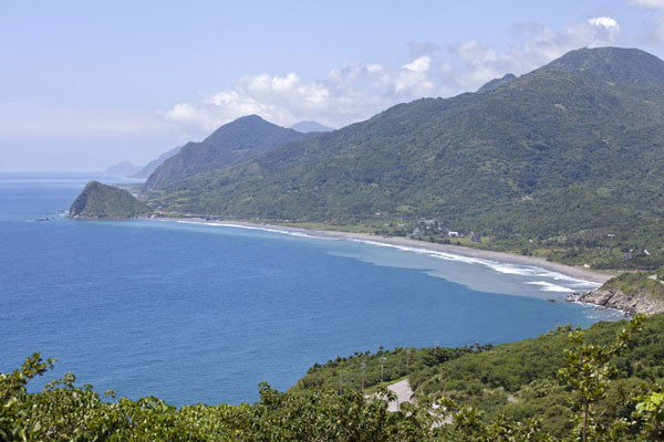 Picture of East Coast Scenic Area (Taiwan): View of the coastline of Eastern Taiwan from the Baci observation point