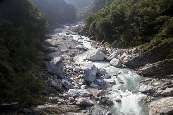 Picture of Taroko Gorge (Taiwan): Liwu river running through Taroko Gorge near Heliu campground